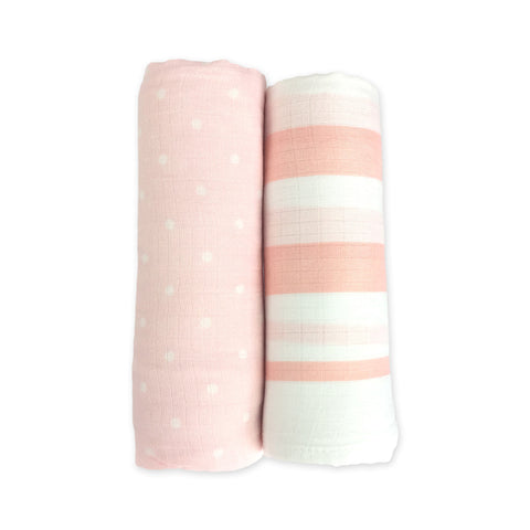 2 Pack Bamboo Muslin Swaddles - Airlie