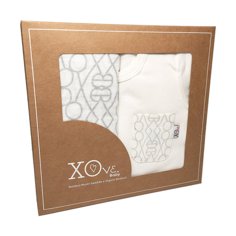 Bodysuit & Swaddle Gift Set - Nantucket