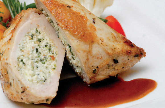Seared Breast of Chicken Stuffed with Spinach & Ricotta (1 - 6oz Piece)