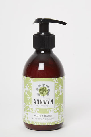 wild mint & nettle natural hand & body lotion - 250ml