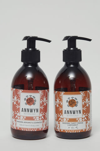 mandarin & bergamot natural hand & body set - 250ml
