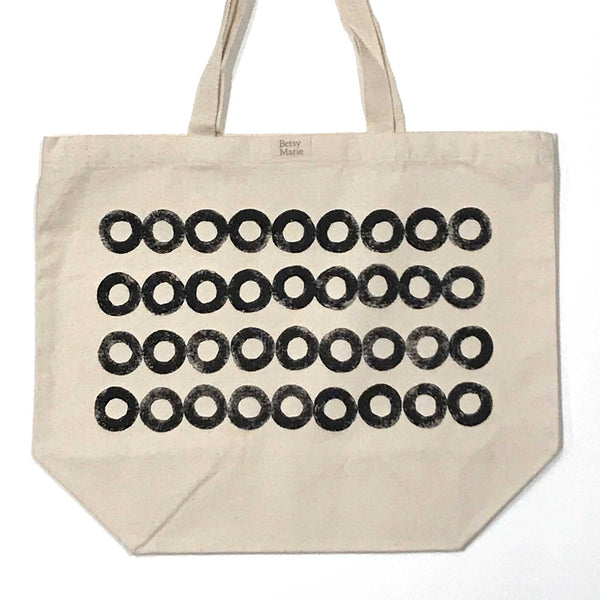 Betsy Marie parsnip pattern on 100% recycled cotton tote bag