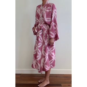 Raspberry Silk Robe