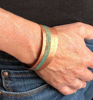 Patina & Copper Cuff Bracelet