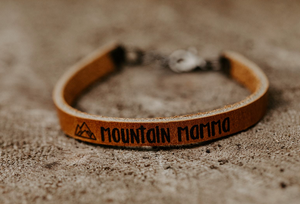 Outdoor Quote Custom Leather Bracelets