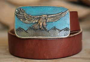 Eagle Bronze Belt Buckle