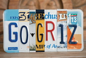 Griz License Plate Wall Art