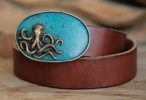 Sea Blue Octopus Buckle
