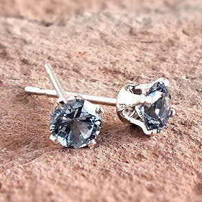 Montana Sapphire Earrings, Tiffany 4-prong