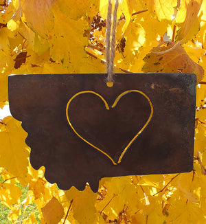Rustic Montana Heart Ornament