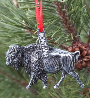 Montana Bison Christmas Ornament