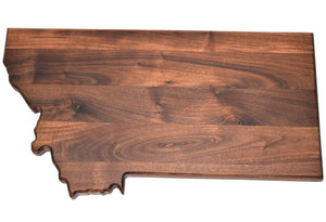 Montana State Shape Cutting Board
