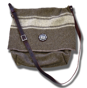 Large Wool Messenger Bag