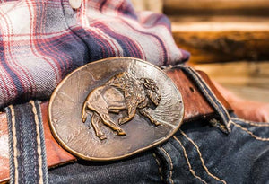 Bison Belt Buckle, Made In Montana