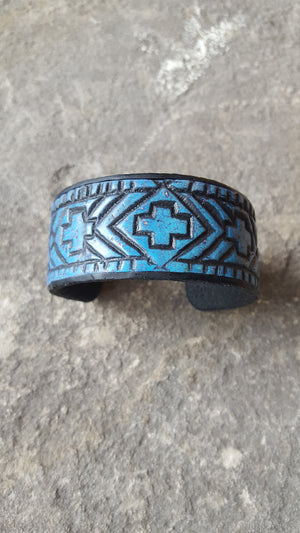 Native American Blue Cuff Bracelet