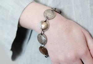 Buffalo Nickel & Indian Head Penny Bracelet