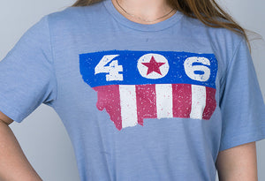 406 Stars & Stripes Montana T Shirt - Unisex (Color Choices)