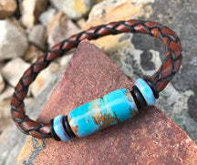 Paint Pot Leather Montana Bracelet- Montana Jewelry