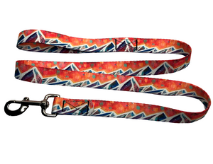 """Spanish Peaks"" Dog Collar & Leash"