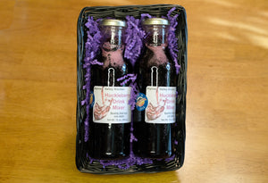 Huckleberry Drink Mixer with Huckleberry Cordials Gift Set