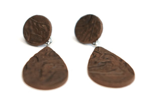 Tooled Teardrop Earrings