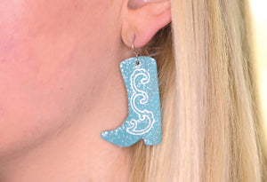 Cowboy Boot Earrings (Red or Turquoise)