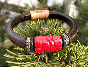 Ruby River Leather Bracelet