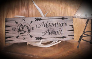 Adventure Awaits Sign (Color Choices)