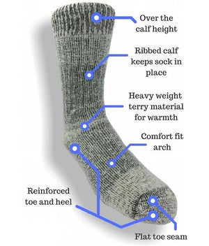 Warm Arctic Over-the-Calf Alpaca Boot Socks, Alpaca socks