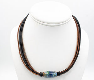 Montana River Leather Necklace