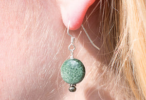 Green Gemstone Earrings (SOLD OUT)