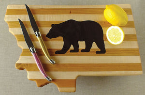 Grizzly Bear Hardwood Montana Cutting Board
