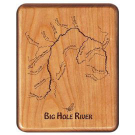 Custom Engraved Maple Fly Box (choice of river)