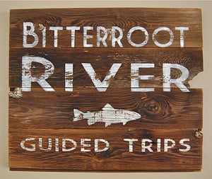 Fishing Rivers Salvage Sign