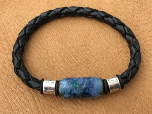 Blue Jay Leather Bracelet