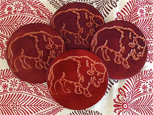 Western Leather Coaster Sets - Distinctly Montana - 7