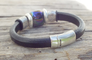 Midnight Leather Bracelet - Distinctly Montana - 5