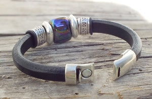 Midnight Leather Bracelet - Distinctly Montana - 6