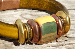 Sweetgrass Leather Bracelet