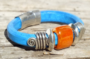 Big Sky Turquoise Leather Bracelet