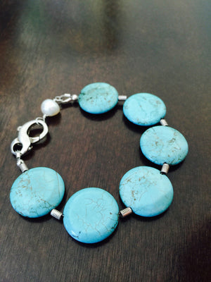 Turquoise & Pearl Bracelet - Distinctly Montana - 2