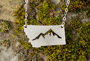 Montana Necklace, Mountain Silhouette SOLD OUT