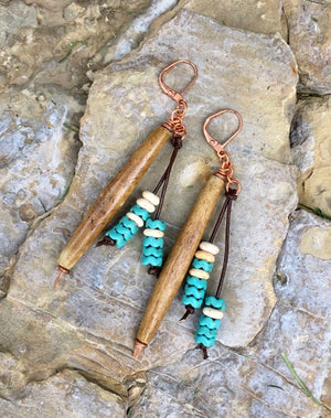 Buffalo Bone Earrings