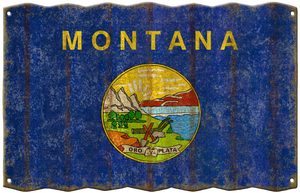Montana Flag Metal Sign