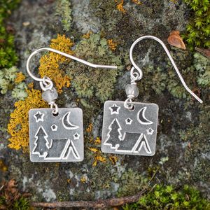 Camp Earrings - Montana jewelry