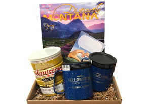 Yellowstone Coffee Vintage Can Montana Care Gift Set