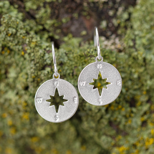 Compass Earrings - unique gift