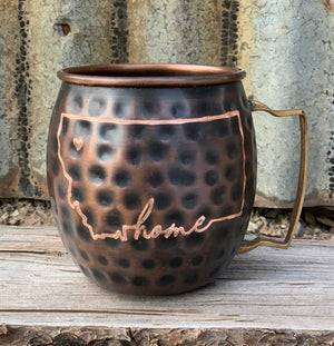 Copper HOME Mug with Heart (Personalize it!)