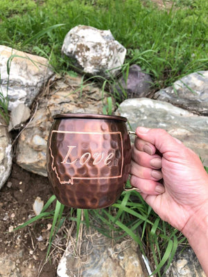 Love Montana Copper Mug