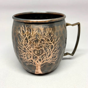 Copper Tree with Heart Mug (Personalize it!)